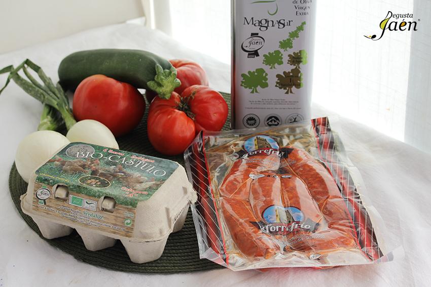 Ingredientes Huevos plato con chorizo Degusta Jaen