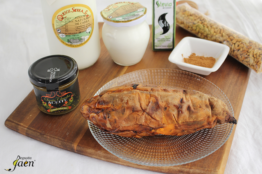 Ingredientes Boniato, yogur y aove Degusta Jaen