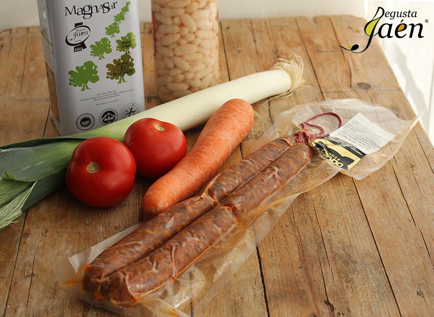 Ingredientes Habichuelas con chorizo de ciervo Degusta Jaen