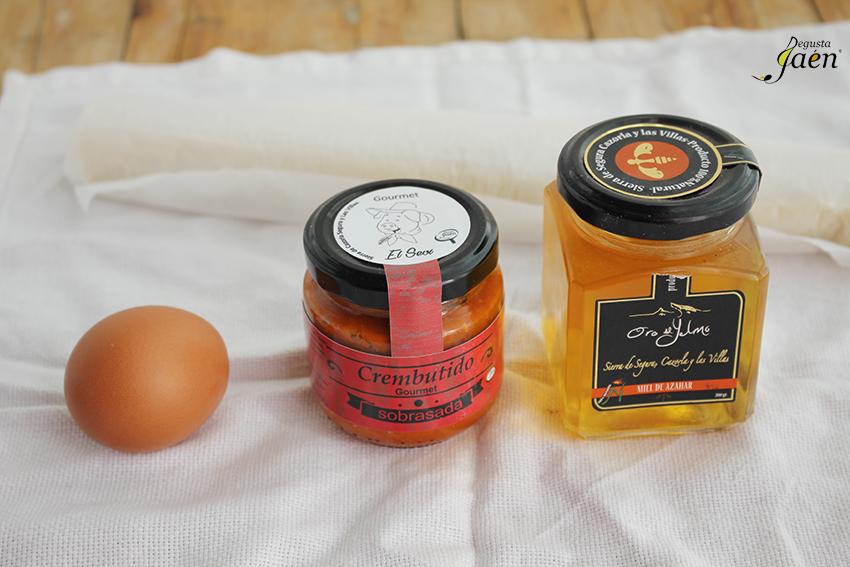 Ingredientes Palmeritas sobrasada y miel Degusta Jaen