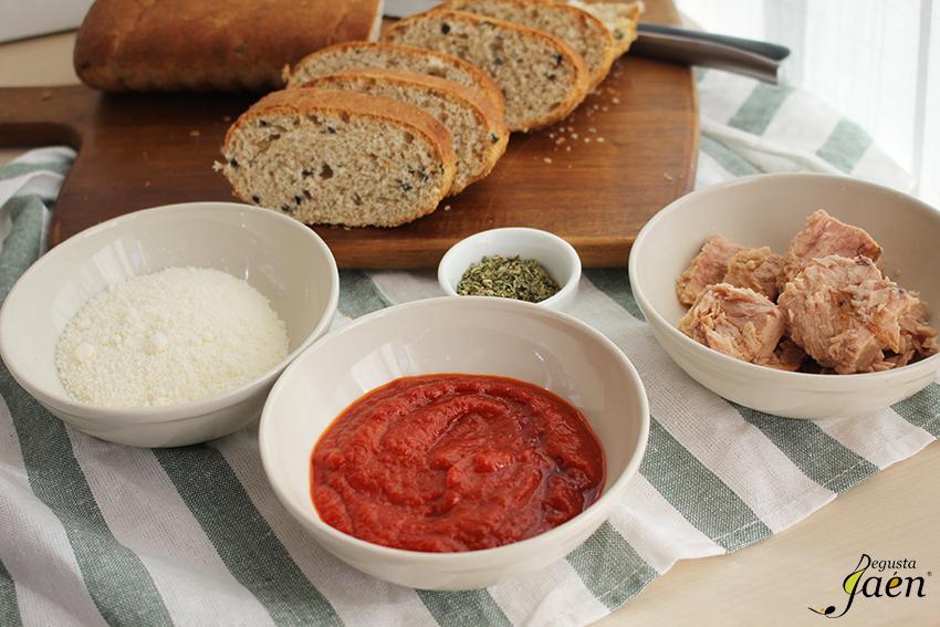 Ingredientes Paninis caseros Degusta Jaen