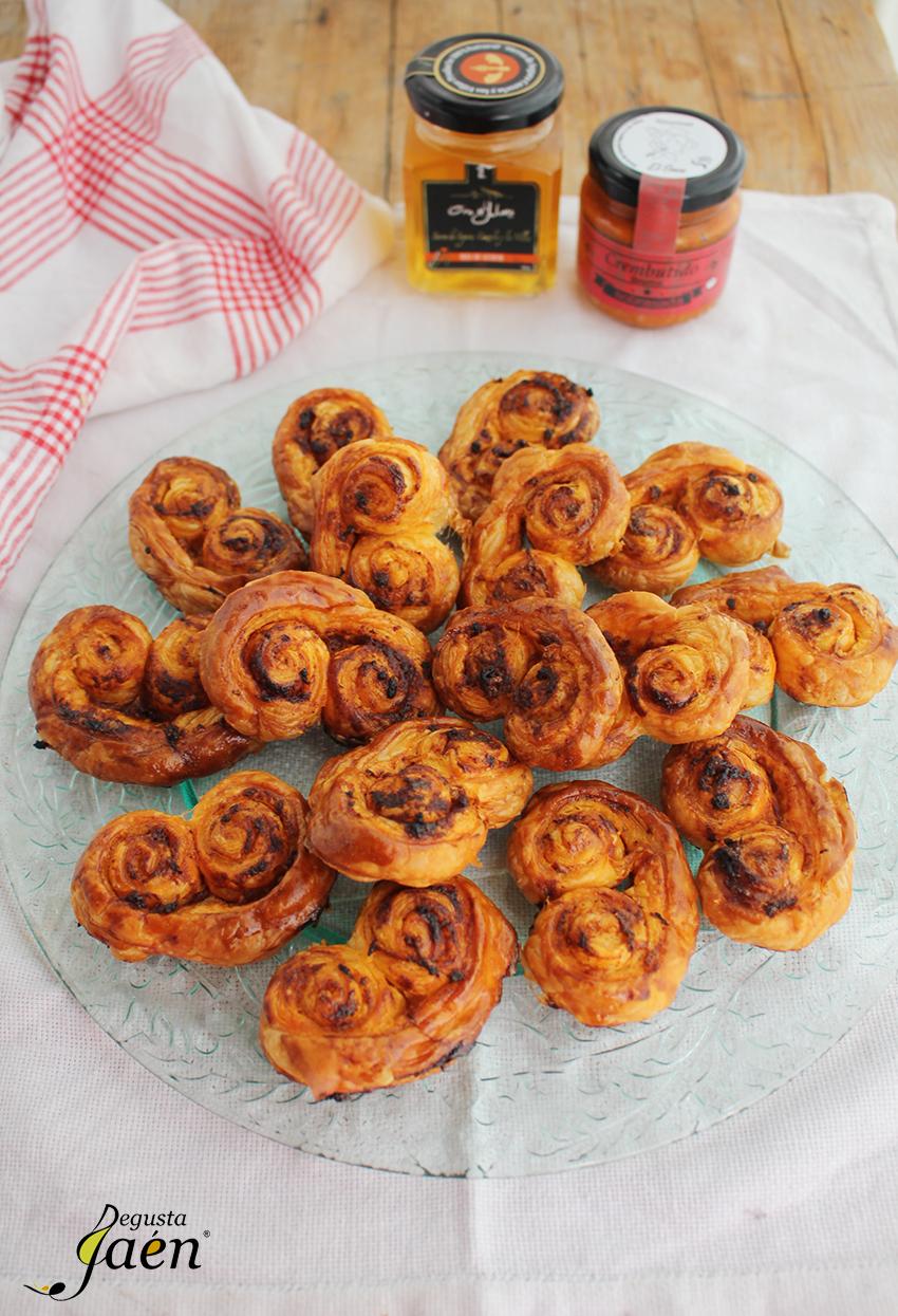 Palmeritas de sobrasada y miel Degusta Jaen (2)