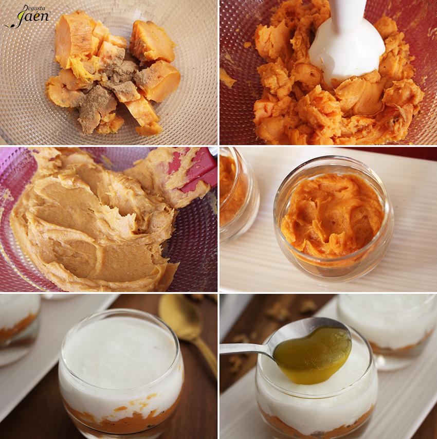 Yogur de cabra con boniato y aove Degusta Jaen