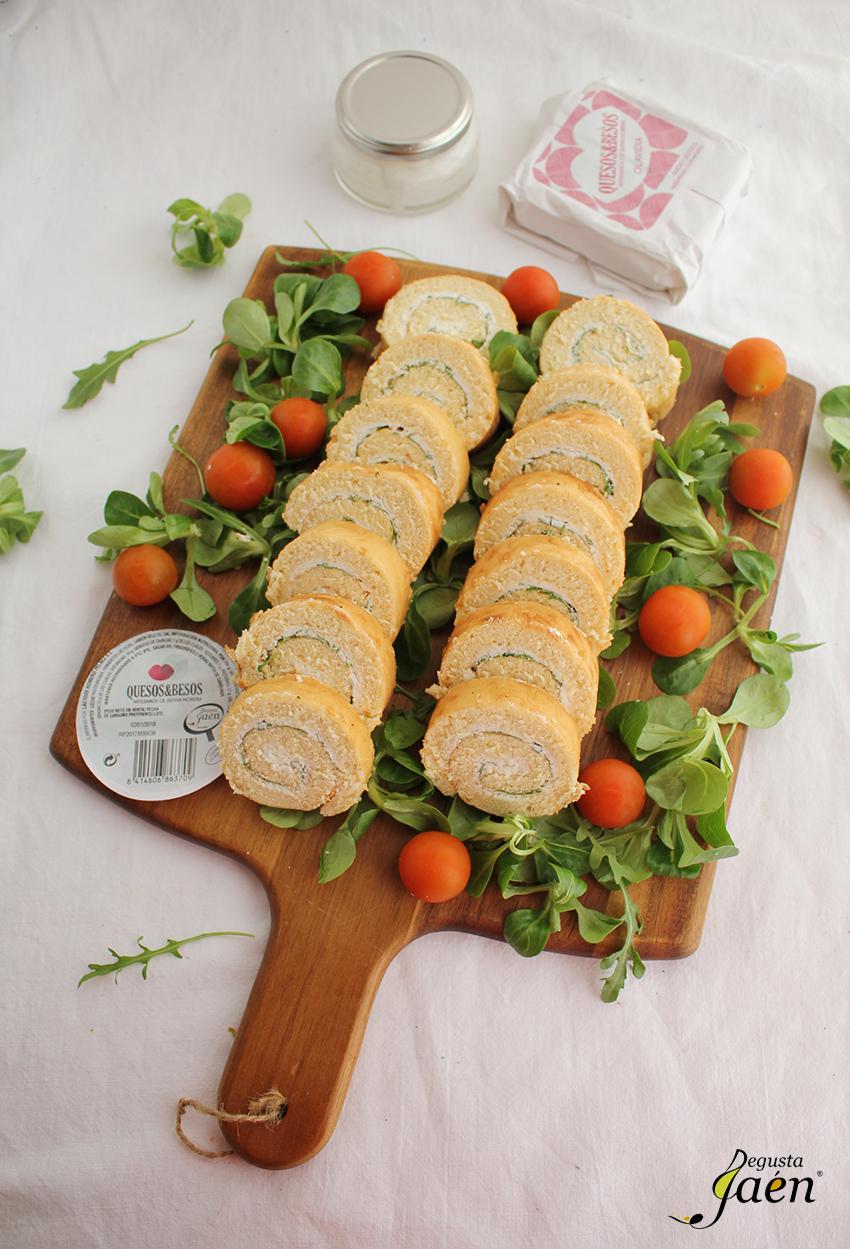 Enrollado de crema de queso Quesos y Besos Degusta Jaen