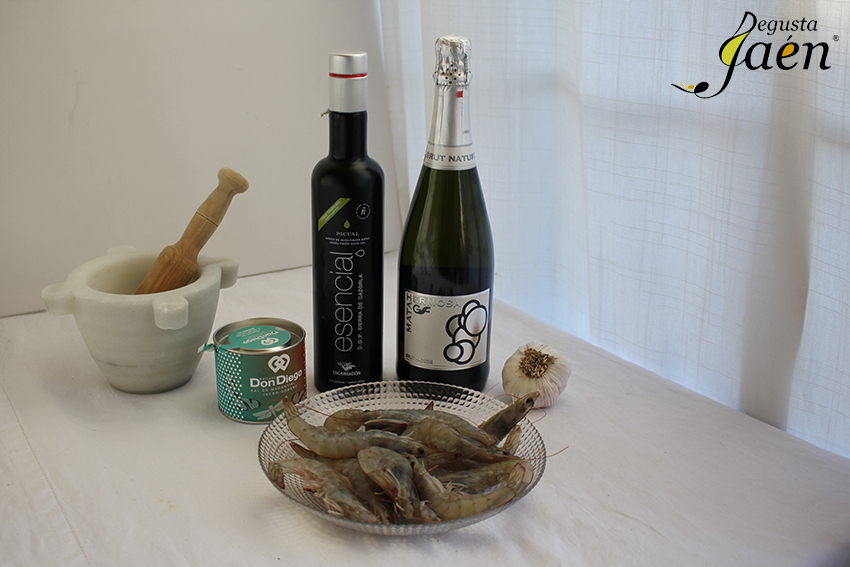 Langostinos al cava Ingredientes Degusta Jaén