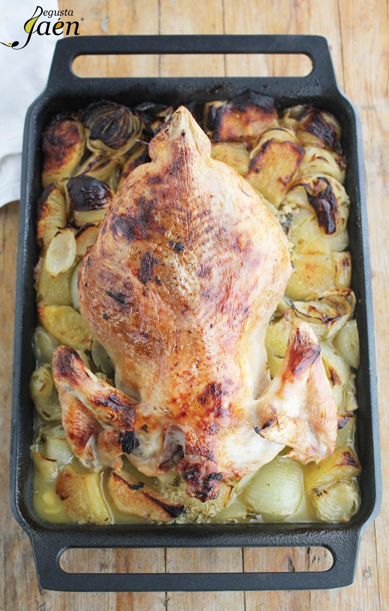 Pollo al horno con manzanas Degusta Jaen (2)