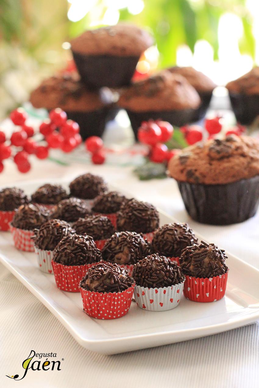 Trufas de Magdalenas de Chocolate Degusta Jaen