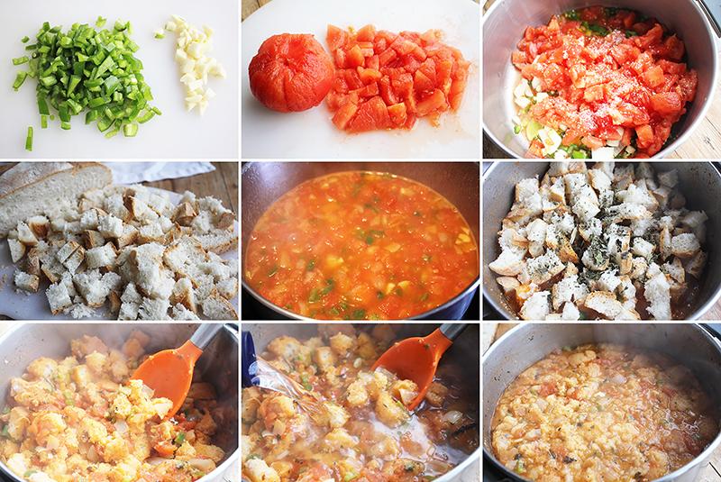 Sopa de pan con tomate Degusta Jaén pasos
