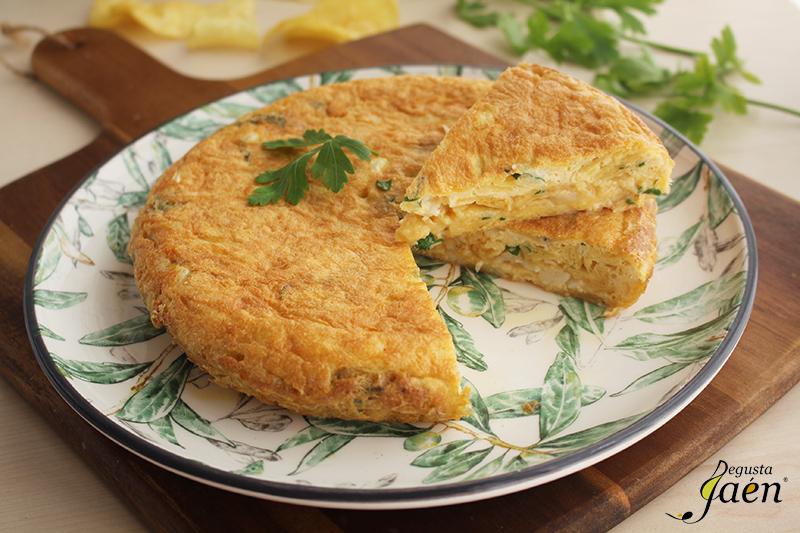 Tortilla de patatas y bacalao Degusta Jaen (1)