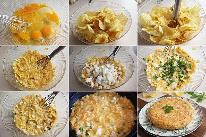 Tortilla de patatas y bacalao Degusta Jaen Pasos