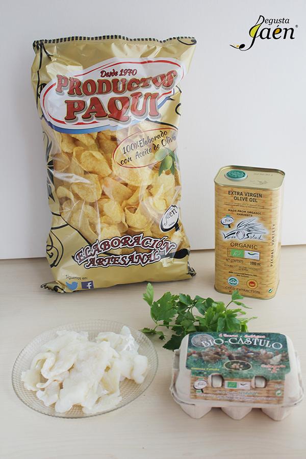 Tortilla de patatas y bacalao Ingredientes Degusta Jaen