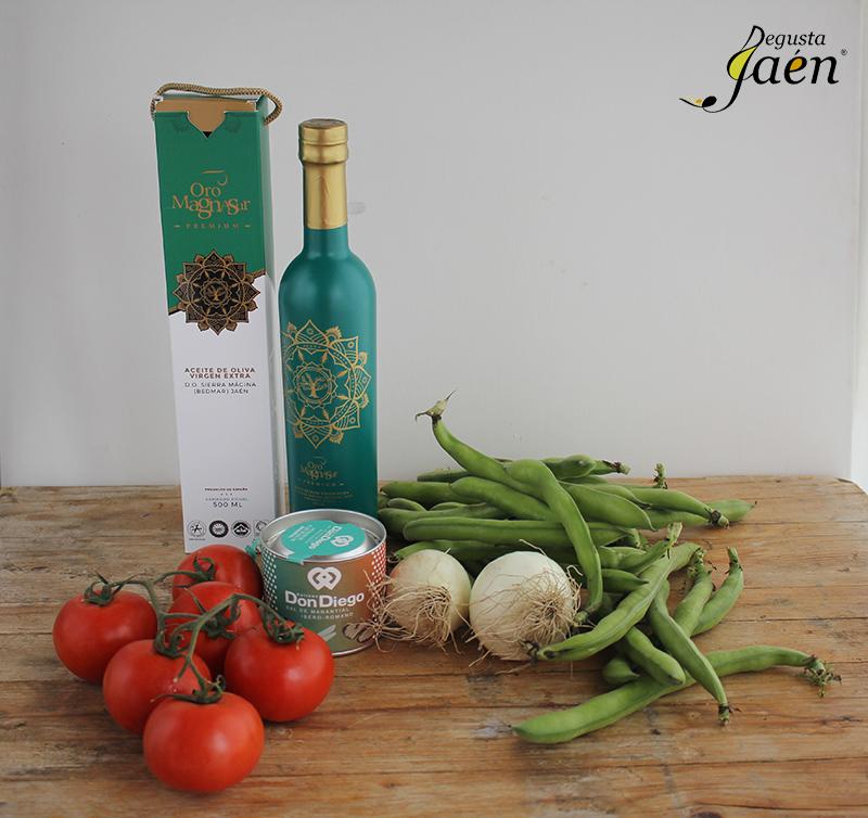 Ingredientes Ensalada habas Degusta Jaen