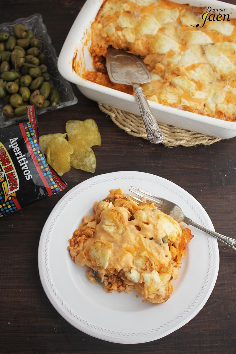 Pastel de pollo y patatas de bolsa Degusta Jaen (2)
