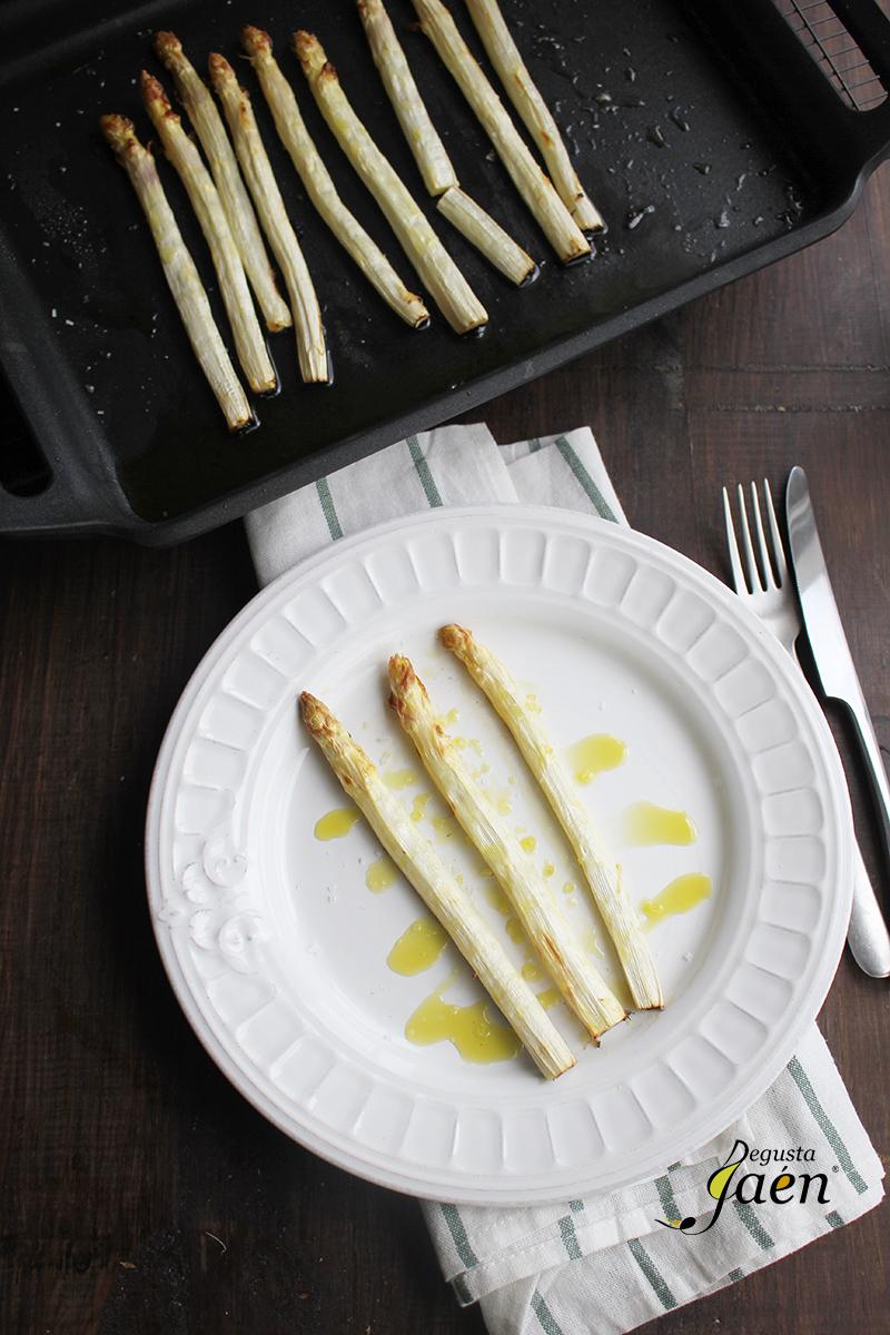 Esparragos blancos frescos al horno Degusta Jaen (1)