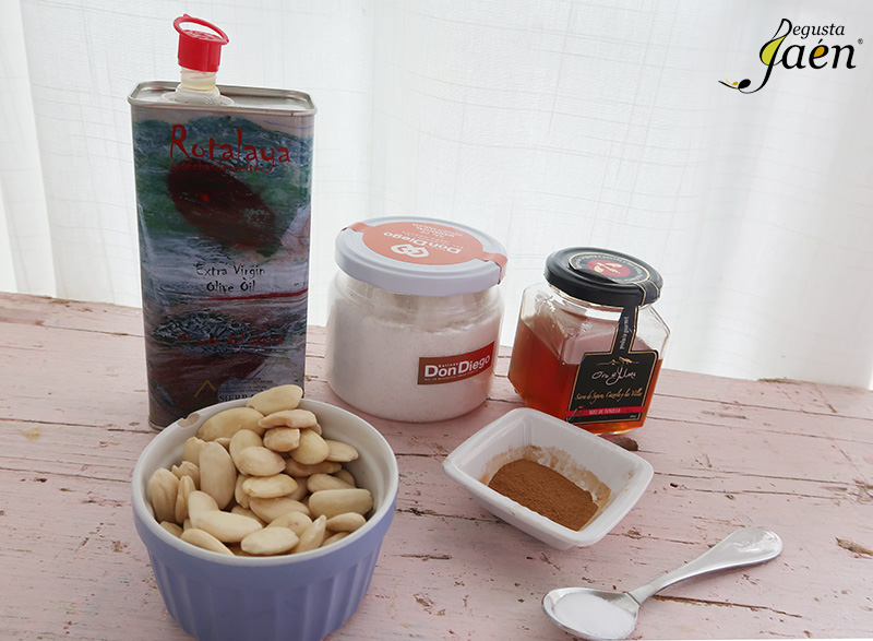 Pastas de almendra sin gluten Degusta Jaen Ingredientes