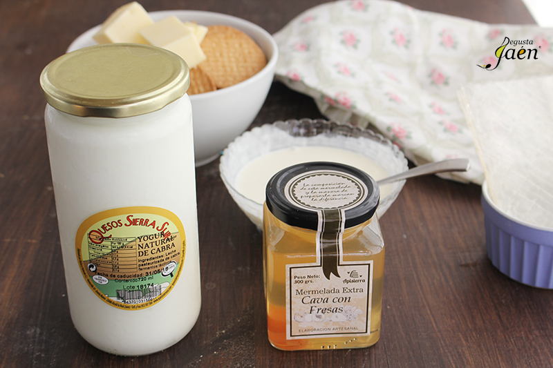Tarta de yogur Y mermelada de cava Degusta Jaen Ingredientes