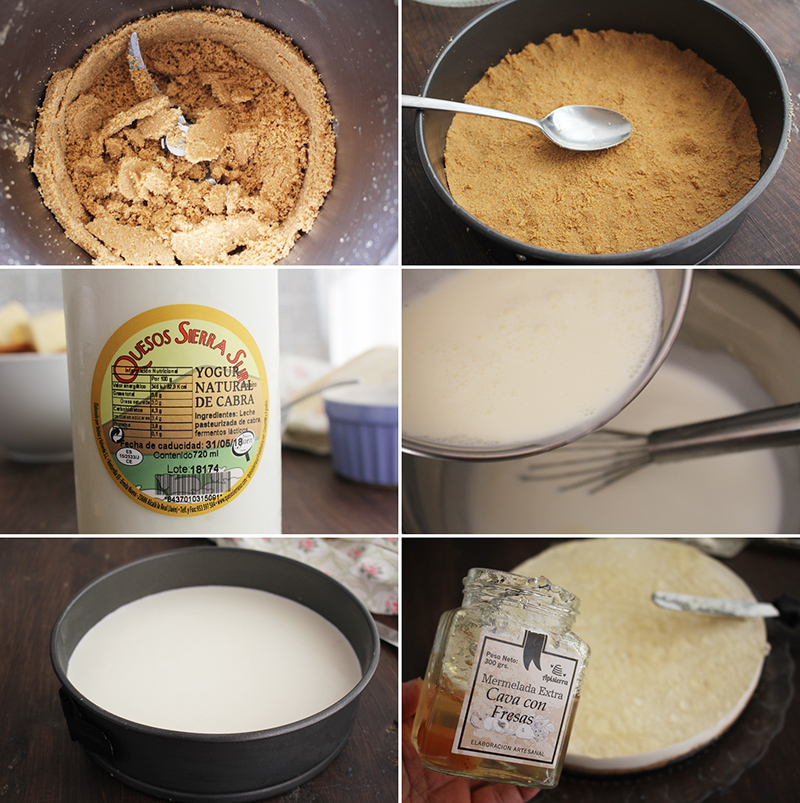Tarta de yogur Y mermelada de cava Degusta Jaen Pasos