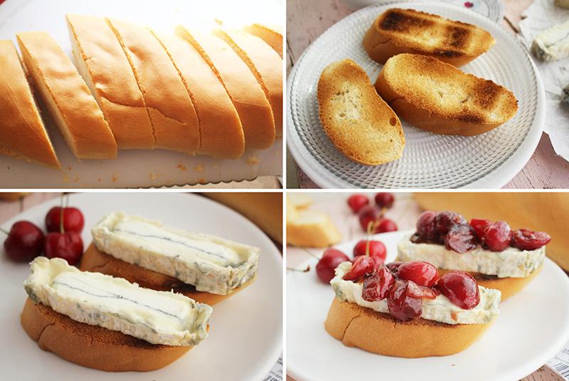 Tostas de queso y cerezas Degusta Jaen 1