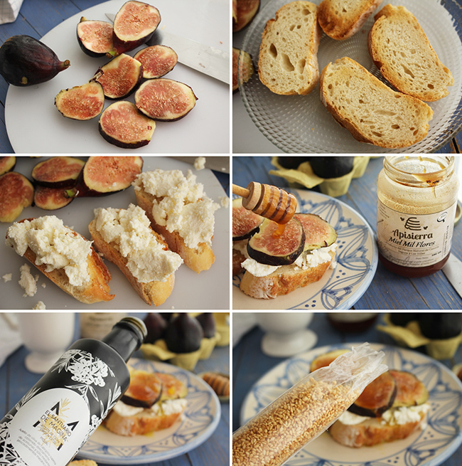 Brevas, requeson y miel Degusta Jaen pasos