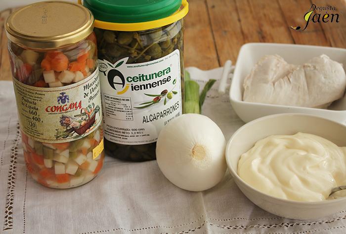 Ingredientes Ensaladilla pollo Degusta Jaen