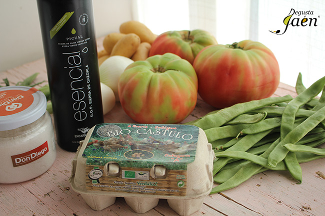 Ensalada de verano Degusta Jaen ingredientes