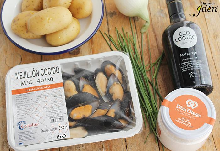 Patatas con mejillones Degusta Jaen Ingredientes