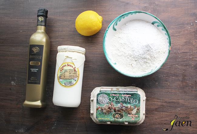 Bizcocho de yogur y aceite de oliva virgen extra Ingredientes