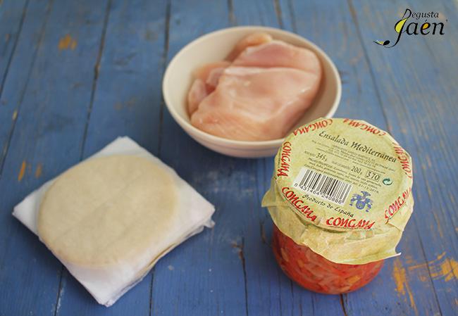 Empanadillas pollo Degusta Jaen ingredientes