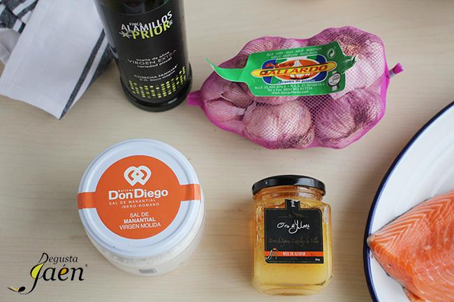 Ingredientes Salmon miel y mostaza Degusta Jaén