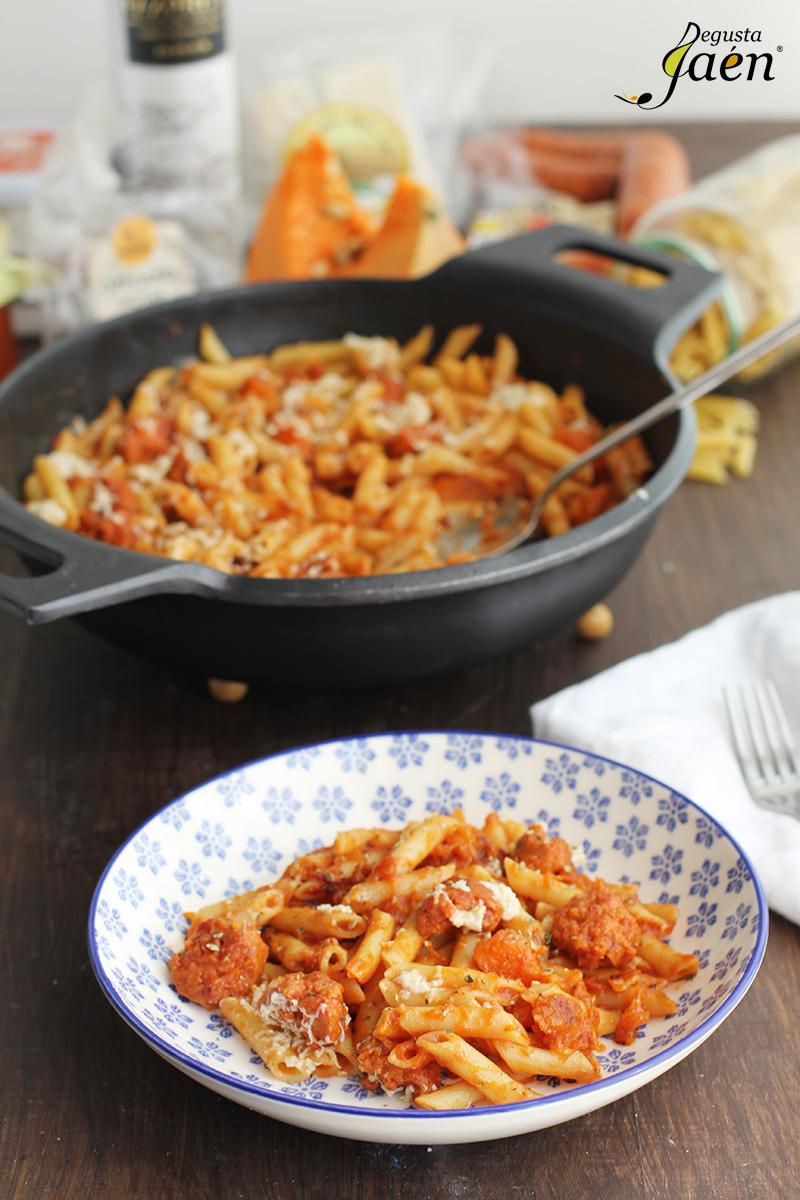 Macarrones con calabaza y chorizo Degusta Jaen (1)