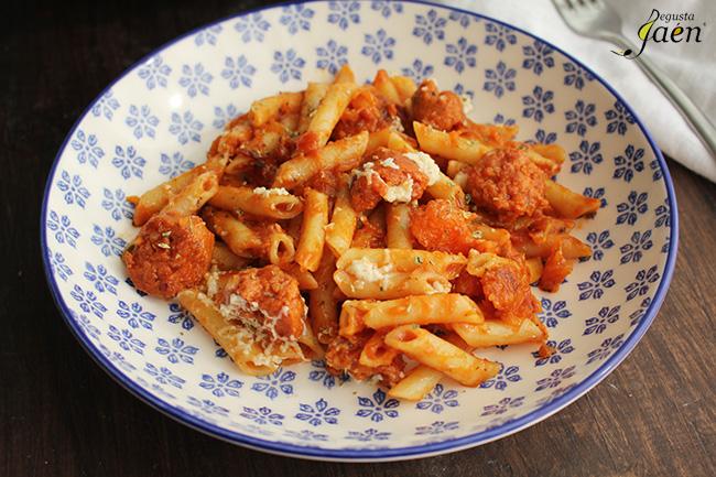 Macarrones con calabaza y chorizo Degusta Jaen (2)