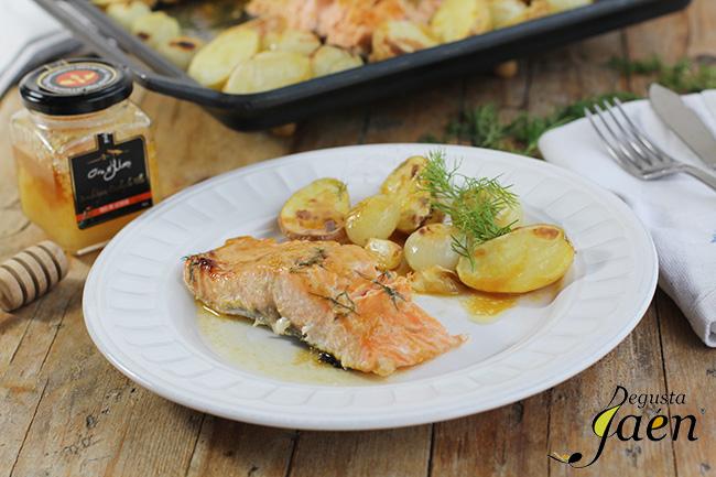 Salmon con miel y mostaza Degusta Jaen (1)