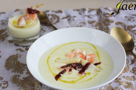 crema-de-esparragos-langostinos-y-jamon-de-pato-degusta-jaen-4-720×533