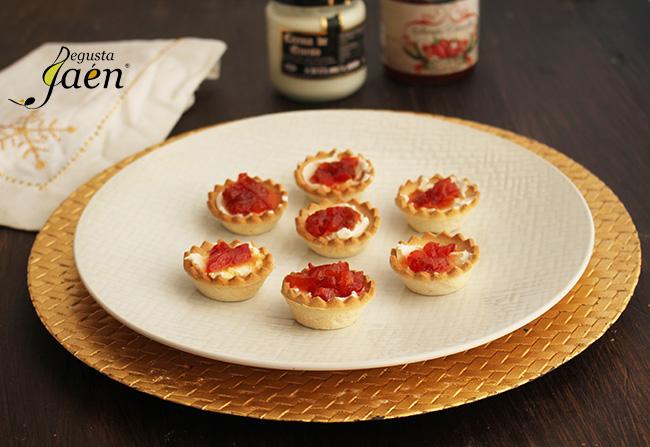 Tartaletas crema queso y pimiento caramelizado Degusta Jaen (1)