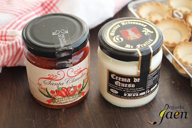 Tartaletas queso y pimiento Degusta Jaen Ingredientes