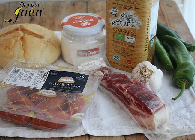 Migas de pan Degusta Jaén - Ingredientes