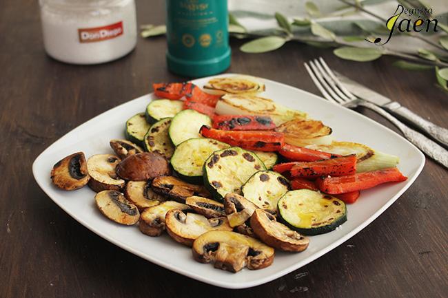 Verduras a la plancha con aove Degusta Jaen