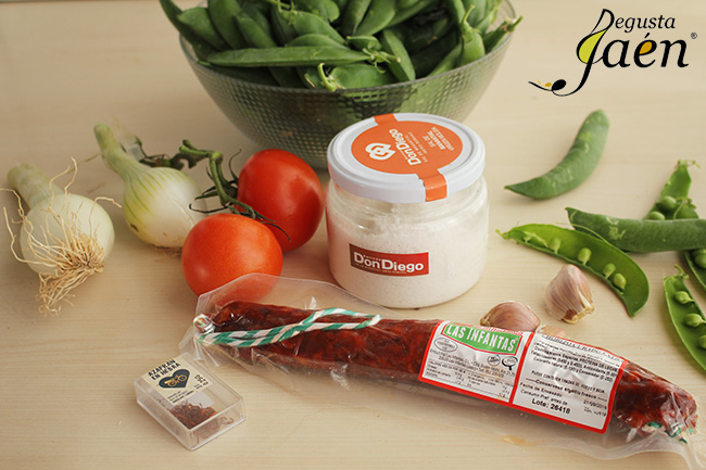 Guisantes con chorizo Degusta Jaen Ingredientes