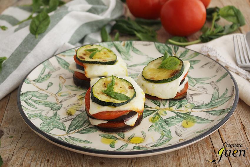 Milhojas de verduras con queso fresco Degusta Jaen (1)