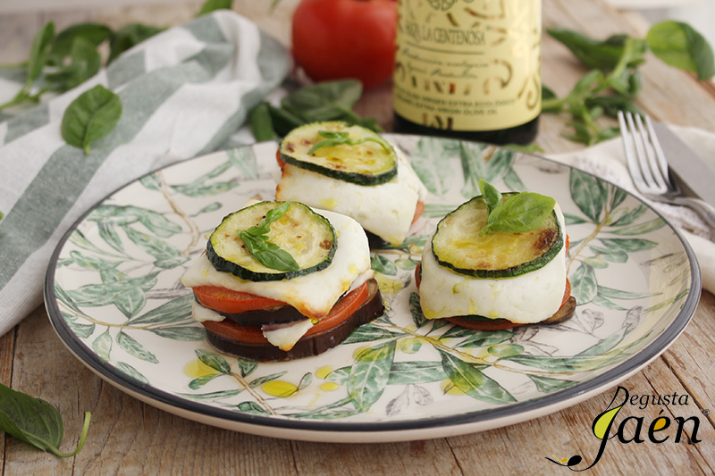 Milhojas de verduras con queso fresco Degusta Jaen (2)