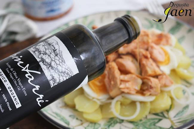Ensalada de trucha en escabeche Pez y Per Degusta Jaen