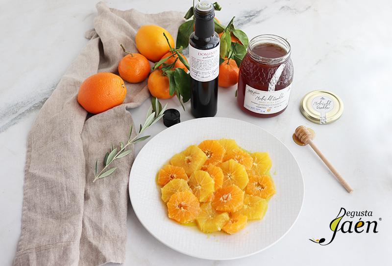 Ensalada de naranja con miel de Rumblar y aceite Acebuche Dominus Degusta Jaen