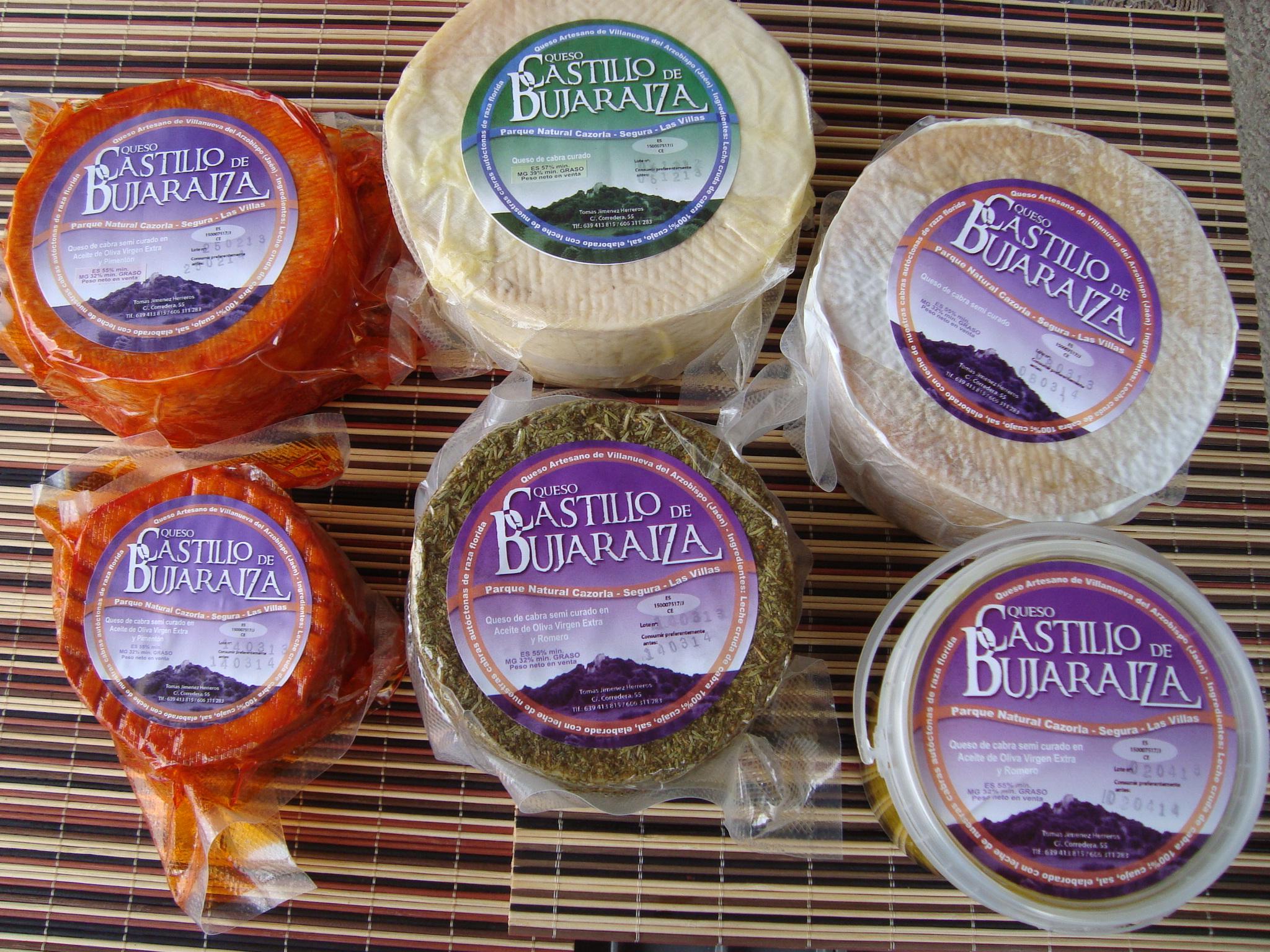 La amplia gama de quesos curados.