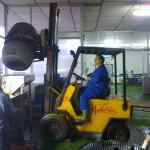 En la fábrica