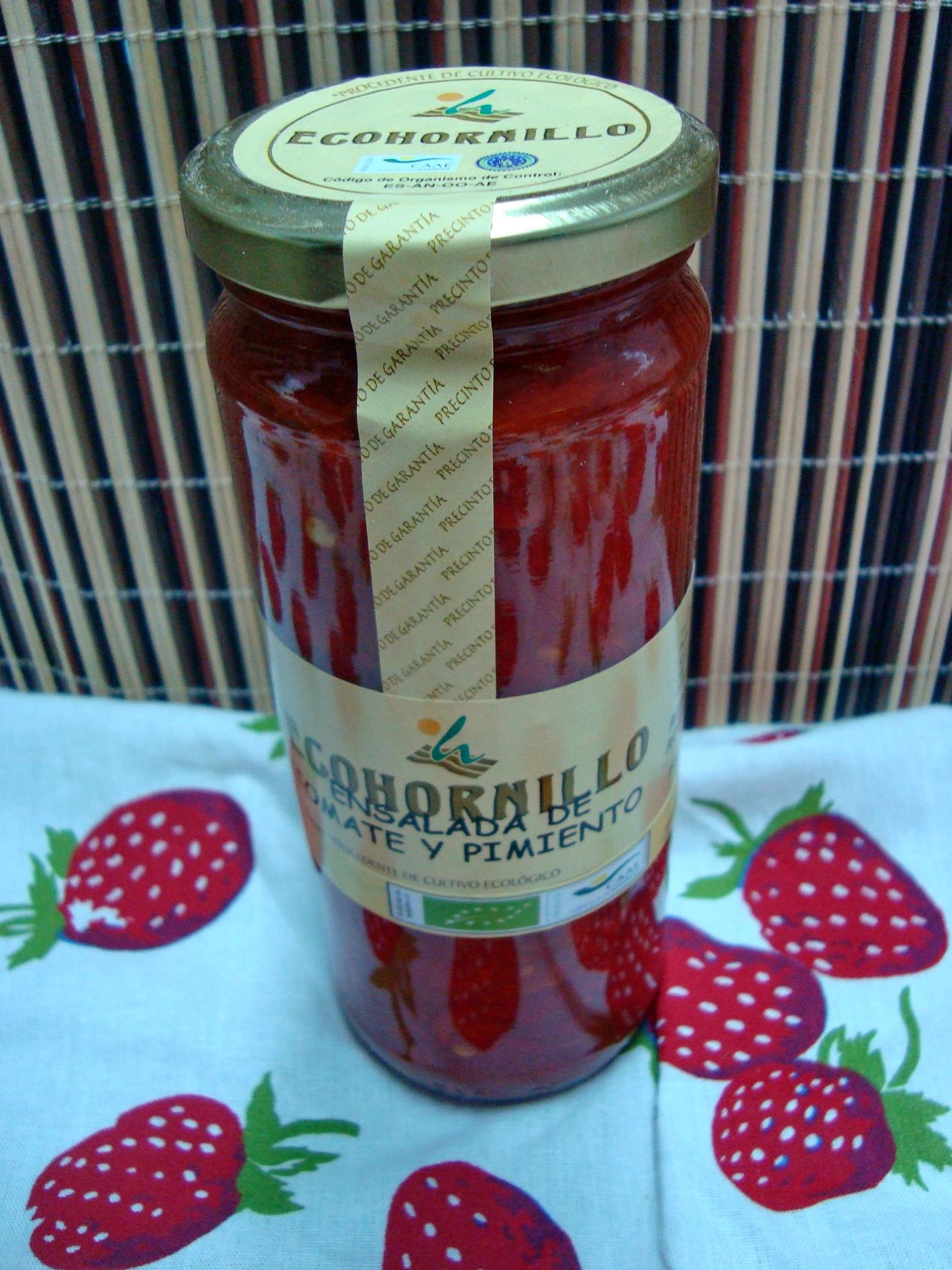 ensalada pimiento y tomate