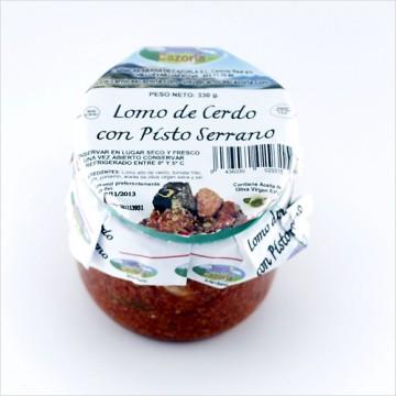 Lomo de Cerdo con Pisto Serrano